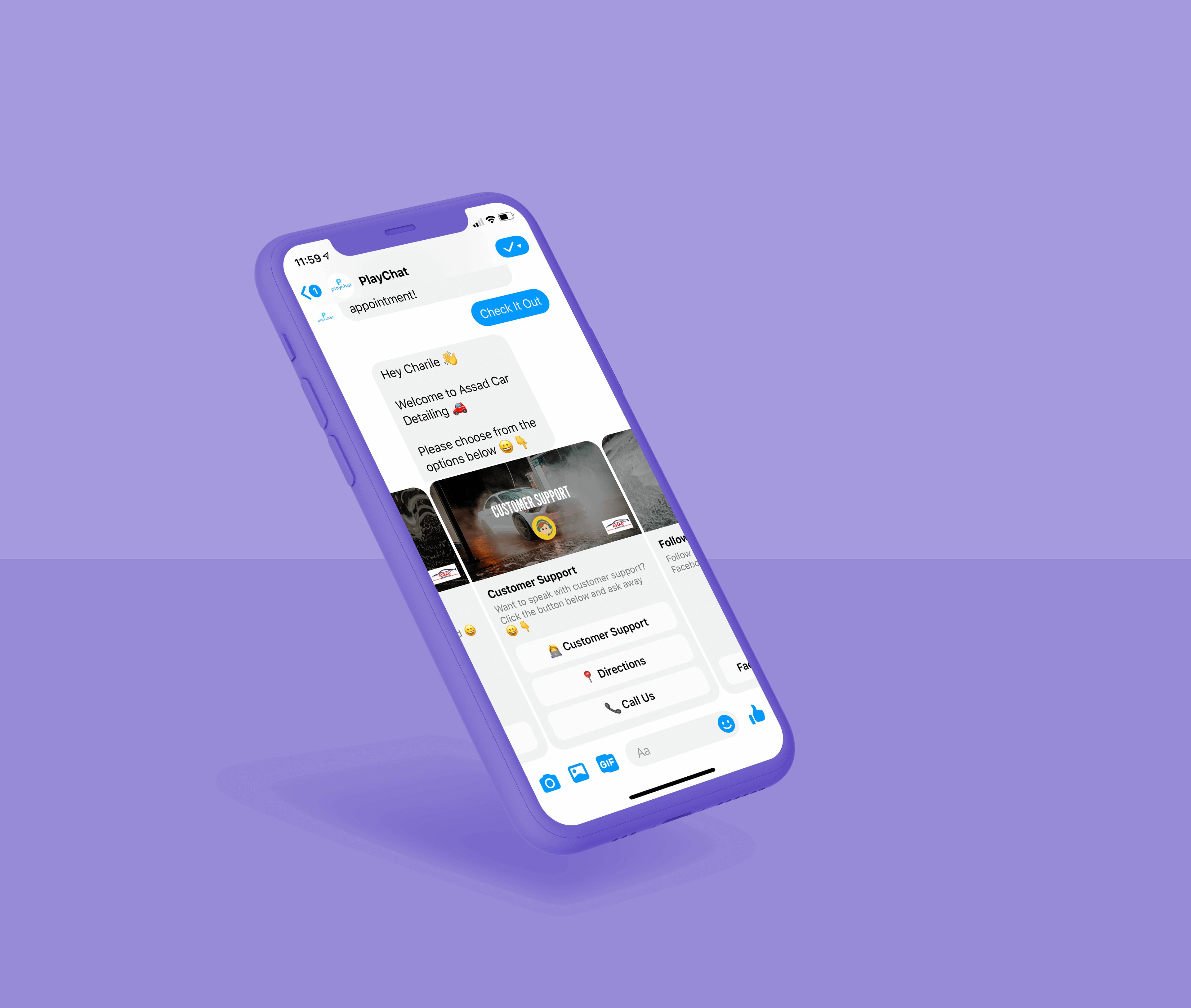Customer-service-on-Messenger-chatbots